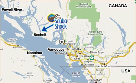 Map Overview Of The Sunshine Coast Vancouver Island Canada And The Usa